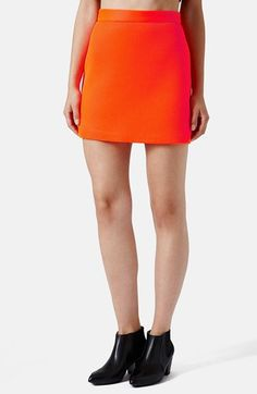 Topshop Airtex Miniskirt available at #Nordstrom