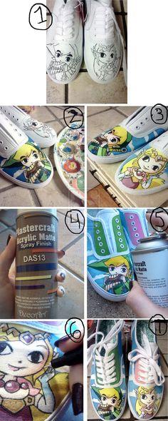 Custom Shoe Tutorial: Zelda Shoes