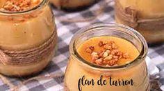 Flan de turron de Jijona : un magnifico flan con sabor a turron Christmas Bread, Mousse, Cucumber, Tapas, Yogurt, Cooking Recipes, Sweets, Dishes, Baking
