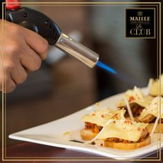 Whether it's a crunchy, caramelized créme brûlée, bacon-wrapped anything, or roasting colorful vegetables, the blow torch is a versatile #cooking tool to have in your kitchen. If you have one, check it off your Ultimate Foodie list! Colorful Vegetables, Le Club, Creme Brulee, Bacon Wrapped, Caramel, Meals, Cooking, Check, Kitchen