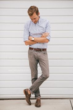 Shirt: J. Crew Factory - $23Jeans: Converse - $13 (Buffalo Exchange) (similar)Shoes:J. Shoes Charlie-Jack ThreadsWatch:Brushed Silver Grandad Watch-ASOS- $43Belt: Levis - $10 (Marshalls) (similar)