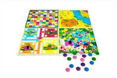 """Детский игровой набор """"Волшебное приключение"""" В наборе: коврик, 16 фишек, кубик. Размеры: 99*99 см(коврик);2,8 см(диаметр фишки);3,8*3,8*3,8 см(кубик).Материалы: полиэтилен,АБС-пластик, картон. Для детей от 3-х лет. Код для заказа: 50888 Цена 319 руб"""