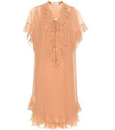 CHLOÉ Cotton Plissé Dress. #chloé #cloth #dresses