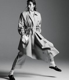 Trench and ankle socks in WSJ magazine