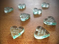 Personalised Clear Glass Effect Laser Cut Heart by Tyrolaser