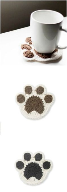 I have rounded up some of the best and interesting free crochet coaster patterns for your home!Paw Coaster Crochet Pattern