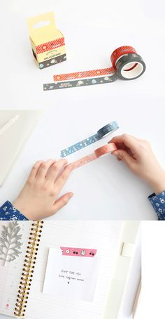 Cute and quirky masking tape perfect for decorating planners and gifts!