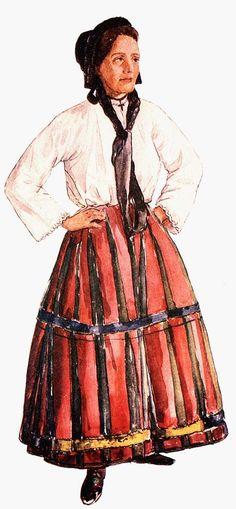 A Székelységről   Malonyai Dezső:  - Kászonaltízí nő,szöttes rokolyában,fején csepesz (főkötő) Disney Characters, Fictional Characters, Snow White, Disney Princess, Clothes, Europe, Suits, Outfits, Clothing