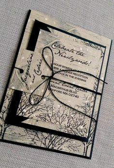 24 Elegant Winter Wedding Invitations Pinterest Winter wedding