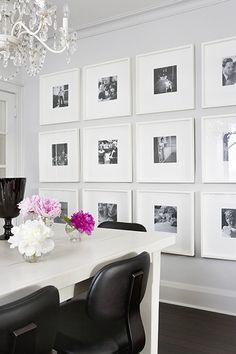 Living Dining Room wall photo display