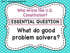 the example question stinks, but good ideas. Reading Wonders Unit and Essential Questions 5th Grade
