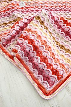 Ravelry: Confections Blanket pattern for sale by Susan Carlson, Felted Button