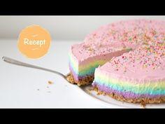Recipe: Rainbow cheesecake (No bake) Sweet Recipes, Cake Recipes, Easy Baking Recipes, Birthday Treats, Pastry Cake, Partys, No Bake Desserts, Cake Cookies, No Cook Meals
