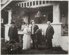 William F. Cody at the Home of W.A. Scott, Eugene, Oregon, 1915
