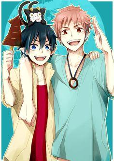 Rin, Shima et Kuro Ao No Exorcist, Blue Exorcist Anime, Rin Okumura, I Love Anime, Anime Guys, Anime Manga, Anime Art, Mini Comic, Image Manga