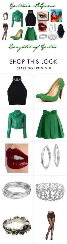"""Gastionia LeGume - Isle of the Lost"" by destinini1999 ❤ liked on Polyvore featuring Miss Selfridge, Christian Louboutin, Dsquared2, Chicwish, Charlotte Tilbury, Blue Nile, Worthington, Ice, Werkstatt:München and Hanes"