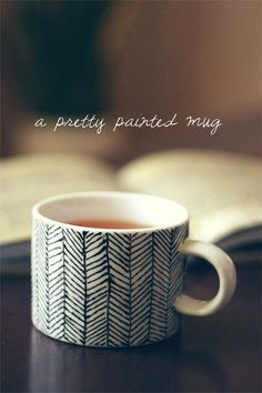 I'm such a sucker for sweet little DIY ideas that add a little pretty to every day life. Right now, I'm crushing on this lovely hand painted mug. All you need is a steady hand, a little inspiration, a set of pretty porcelain mugs and inexpensive tubes of outliner paint. They'd make fabulous hostess and holiday gifts, too! Get the tutorial at Wit & Whistle.  {Photo + tutorial from Wit & Whistle.}