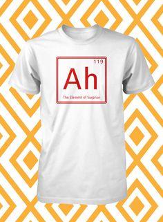 Funny Tee Element Of Surprise Funny Science Shirt Unisex Humorous Mens Shirt L XL Unique Guys Shirt via Etsy