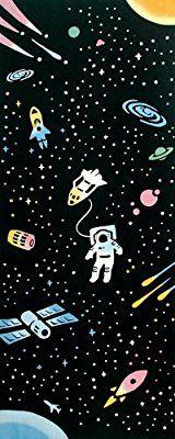 kenema 和雑貨 注染手ぬぐい 『趣味道楽』 宇宙遊泳 36×90cm