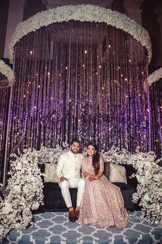 Photo from Preksha & Mukul Wedding Blush Wedding Theme, Desi Wedding Decor, Wedding Hall Decorations, Wedding Reception Design, Wedding Designs, Christian Wedding Gowns, Indian Wedding Couple Photography, Mehendi, Ganesha