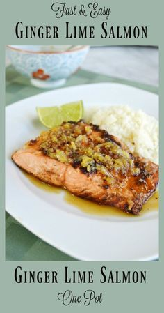 Ginger Lime Salmon (AIP, SCD, Paleo)