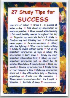 Study Tips -  good to keep in mind as finals start