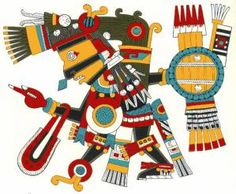The Aztecs had a complex and diversified pantheon (which means ensemble of gods). Scholars studying the Aztec religion have identified no fewer than 200 gods and goddesses!  Here's out 10 ten