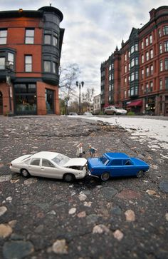 Kurt Moses is a photographer from St. Paul, MN who works with a unique crowd of models: miniature people.