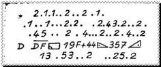 Cryptogramme de l'Aiguille creuse de Maurice Leblanc