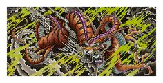 "TIGER DRAGON LARGEDimensions 48x24""High Dynamic Range (HDR) PigmentsPrinted on 100% Cotton Rag"