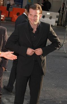 I have a thing for all black suits. And a thing for Bradley Cooper.