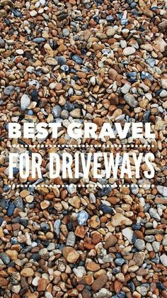 Learn which type of gravel you should choose for a back patio or driveway for your home. Top layer choices for gravel driveways might include crushed shale, limestone, granite and concrete, along with (Landscape Step Driveways) Best Gravel For Driveway, Pebble Driveway, Rock Driveway, Driveway Edging, Diy Driveway, Asphalt Driveway, Paver Walkway, Gravel Patio, Circular Driveway