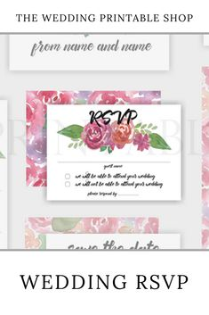 Pink Floral Wedding RSVP Printable | digital download | digital product | DIY wedding | green botanical | botanical print | engaged | DIY bride | Etsy | printable RSVP Wedding Rsvp, Floral Wedding, Diy Wedding, Wedding Day, Stationery Design, Wedding Stationery, Wedding Printable, Botanical Prints, Floral Design