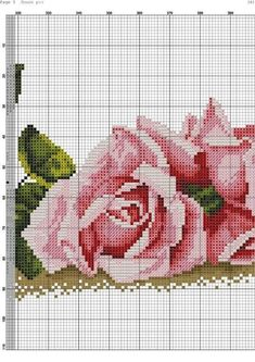 "Photo from album ""вышивка цветов"" on Yandex. Easy Cross Stitch Patterns, Simple Cross Stitch, Cross Stitch Bird, Cross Stitch Flowers, Cross Stitching, Hand Embroidery Stitches, Cross Stitch Embroidery, Embroidery Patterns, Rosa Shabby Chic"