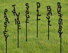 One Herb marker / Garden Marker / Vegetable Garden Stake / Herb Marker / Plant Stake / Outdoor / Garden Plant Markers