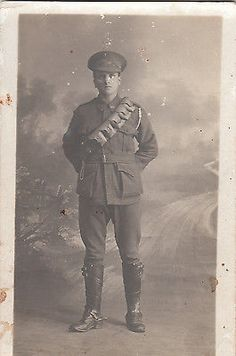 WW1 ANZAC postcard Australian soldier by Mason & Co Richmond Victoria spots