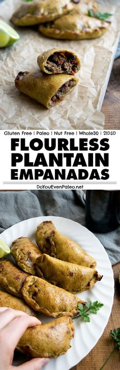 These flourless paleo plantain empanadas use a 1-ingredient dough and delicious ground beef filling | DoYouEvenPaleo.net