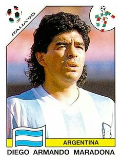128 Diego Armando Maradona - Group B - Argentina - FIFA World Cup Italia 1990 World Football, Football Soccer, Diego Armando, Argentina Soccer, Football Stickers, National Football Teams, Football Pictures, Soccer Games, Football Match