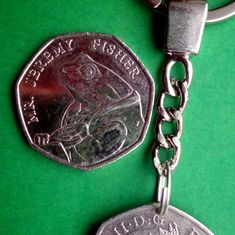 Mr Jeremy Fisher, UK Commemorative English coin of English Coins, 50p Coin, Christmas Labels, Commemorative Coins, Gifts For My Boyfriend, World Coins, Beatrix Potter, Queen Elizabeth Ii, Fisher