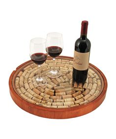 Lazy Susan Cork Display - Wine & Cheese Collection