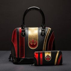 Star Wars The Force Awakens Poe Dameron handbag and matching wallet made by Bioworld ⭐️ Star Wars fashion ⭐️ Geek Fashion ⭐️ Star Wars Style ⭐️ Geek Chic ⭐️