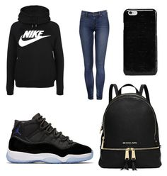 """Space jam for her"" by bluesimmone on Polyvore featuring NIKE and Maison Margiela"
