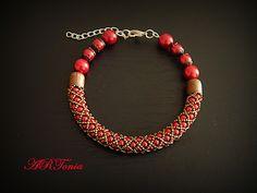 Perličkový náramok (Czech glass pearls bracelet)