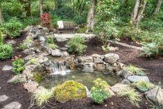 Garden Fountains and Ponds Ideas Photos.