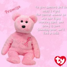 October is Breast Cancer Awareness Month, Promise Bear #BreastCancerAwareness