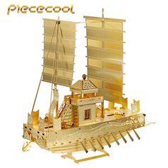 Piececool+3D+Metal+Puzzle+Korea+Panokseon+Ship+P021G+DIY+3D+Laser+Cut+Assemble+Models+Toys+For+Audit