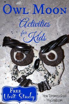 Owl Moon - Activities for Kids from HowToHomeschoolMyChild.com @Kerry Beck