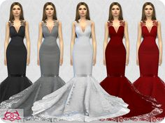 Colores Urbanos' Wedding Dress 8 RECOLOR 2 (Needs mesh)