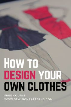 The first step in dressmaking is to design clothes. If you love sewing, you are gonna love this free online course that covers a bit of fashion design, fashion illustration, sewing tips and tricks, and sewing patterns. Design Your Own Clothes, Make Your Own Clothes, Designing Clothes, Diy Clothes Making, Fashion Design Inspiration, Fashion Design Sketches, Fashion Designers, Become A Fashion Designer, Sewing Hacks