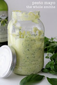 Holy cow! Homemade Pesto Mayo from the Whole Smiths. Great as a dip, thinned out in dressings or on any sort of sandwich or wrap!